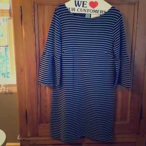 Sail to Sable Dress with Bell Sleeves, Sz M
